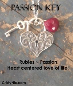 Ruby Necklace, Passion Key by Cristy Nix
