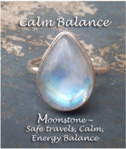 Moonstone-Ring, Cristy Nix with Stone Blessings