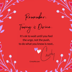 Divine timing + your root center