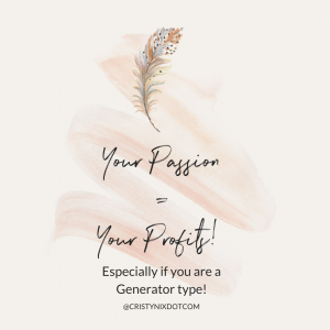 Passions = Profits for Generator Types