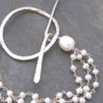 Freshwater pearl and handmade toggle clasp