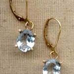 Goddess Jewelry Aquamarine gemstone earrings set in 14kt gold